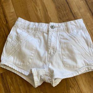 Free People White Denim Shorts